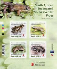 More details for south africa amphibians stamps 2020 mnh frogs endangered species 4v s/a m/s