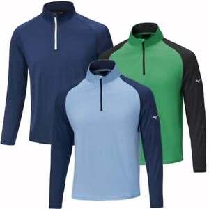 New 2021 Mizuno Mens Quick Dry Breeze 1/4 Zip Pullover - Choose Colour & Size