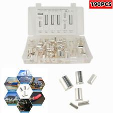 190PCS Silver Cable Housing Terminal Connector Wire Ferrules Pin Cord End Set