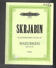 Skrjabin * Klavierwerke Band IV * Noten für Klavier