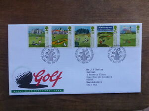 GREAT BRITAIN 1994 GOLF SET 5 STAMPS FDC FIRST DAY COVER