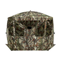 Barronett Blinds Blood Trail Camo Pentagon Large Ground Hunting Hub Blind