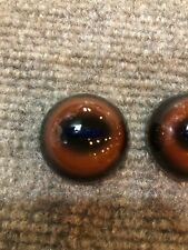 Glass Eyes 32mm Slit Pupil Taxidermy Deep Violet Pupil