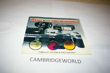 48 Page Pentax Camera Lenses & Accessories Instruction Manual Guide Book