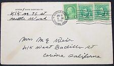 US Envelope Seattle Washington Irving Franklin Rate 3c 1940 USA Brief (Y-573