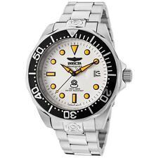Invicta Men's 47mm Automatic Silver Steel Bracelet & Case Date Watch 10640
