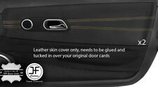 BEIGE STITCH 2X DOOR CARD TRIM LEATHER COVERS FOR CHRYSLER CROSSFIRE 2003-2008