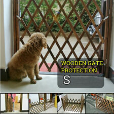 Pet Protection Wood Door Folding Dog Gate Expanding Portable Fence