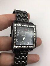 Mint Large Betsey Johnson Gunmetal  Rhinestone Watch