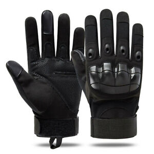 Military Tactical Hard Knuckle Gloves Full Finger/Fingerless Army Combat Hunting
