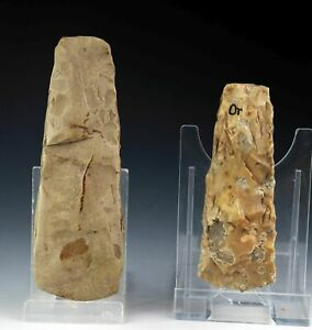 *SC*A CHOICE PAIR OF DANISH NEOLITHIC AXES, 3rd mill BC