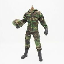 "1/6 Scale Military Clothes Woodland Camo Soldier 12"" Action Figure Accessories"