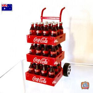 Mini Coke Crates & Trolley Set - Miniature dollhouse 1:12 Coles Little Shop Fans