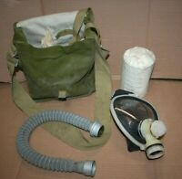 Vintage MC68 Romanian Military Gas Mask w/ Bag Hose and Filter Cold War Army