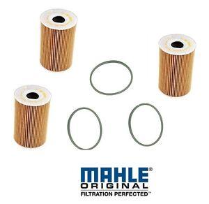 3 OEM Engine Motor Oil Filter kit Set Pack oF3 for Porsche 911 Cayenne Panamera
