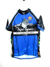 Primal Unisex Blue Triple Bypass Cycling Event Jersey Size L Large NWT