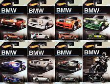 BMW Jubilé Assortiment set 8 modèle voitures 1:64 Hot wheels djm79 m3 2002 m1 z4 e36