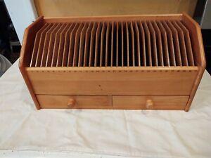 """Vintage Bill Mail Letter Wood Drawer 31 Days Desktop Wood  15 3/4"""" X 7 3/4"""""""