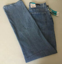 Lee Riders Women's Relaxed Straight Leg Jeans Size 8 Long Medium Wash Stretch  g