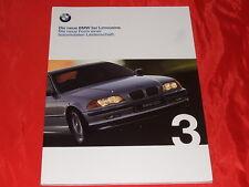 Bmw 3er e46 sedán 316i 318i 320i 323i 328i 320d folleto de 1998