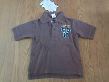 NWT Ed Hardy brown Bull Dog polo shirt boys size 4