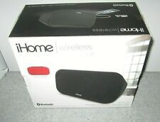 iHome iBT25 Bluetooth Wireless Stereo Speaker System,   Black/Red Grill NIB