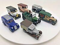 7 x Joblot Oxford Lledo Matchbox Diecast Cars Vans Vintage Walkers Platinum