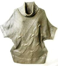 Baby phat taupe metallic short sleeve plus size sweater top 2X