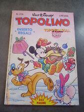 TOPOLINO n° 1775 del 3 DICEMBRE 1989 con CARTELLA TOMBOLA ALLEGATA