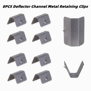 8PCS Deflector Channel Metal Retaining Clips Wind/Rain Fit For Heko G3 SNED Clip