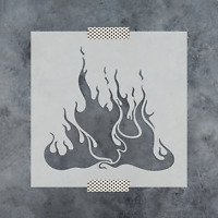 FLAMES DECAL VINYL PAINTING STENCIL FOR SHOES /& SMALL OBJECTS