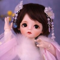 Full Set 1/6 Ball Jointed 30cm BJD Doll Puppe with Changeable Eyes Wigs Clothes