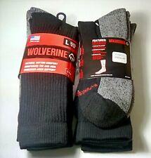 12 pr $39.99 Wolverine All-Season Mid-Calf Work Boot Sock Large FREE SHIPPING