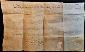 LOUIS XV - STATE OFFICE EMPLOYMENT RESOLUTION Sir Jean Baptiste Bochart de Saron