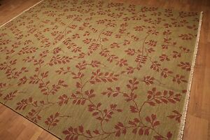 9' x 12' Hand knotted Soumak Traditional Reversible wool Area rug 9x12 Mustard