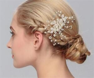 Pearls Wedding Hair Comb Crystal Bridal Dress Accessories Rhinestone Headpiece