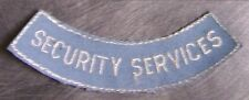 Embroidered Police Patch Security Services NEW shoulder tab