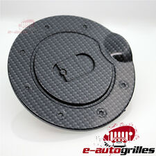 Black Carbon Fiber Look ABS Fuel Gas Tank Cap Door Cover for 09-14 Ford F150