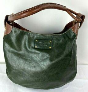 Vintage KATE SPADE New York Hunter Green Leather Hobo Bag Handbag ShoulderPurse