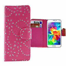 Jewelled Mobile Phone Wallet Case for Samsung