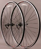Alex ID19 Double Wall Road Bike Wheels Black Shimano 7-10 Speed w Tires & Tubes