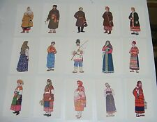 LOT DE 24 CARTES POSTALES FANTAISIES COSTUMES TRADITIONNELS RUSSE RUSSIE /B2326