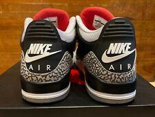 2018 Nike Air Jordan 3 III Retro Black Cement Red White sz 13