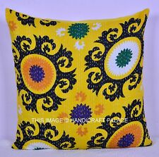"""24"""" INDIAN COLORFUL PILLOW CUSHION COVER ETHNIC FLORAL PILLOW CASE SOFA DECOR"""
