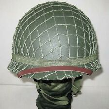 Collectibles WW2 US Army M1 Green Helmet W Net Replica Reproductions Helmets