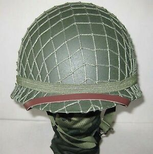 Replica Reproductions Helmets Collectibles WW2 US Army M1 Green Helmet W Net