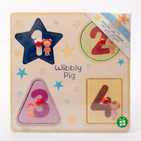 Baby First Toy Wooden Peg Puzzle Wibbly Pig 18months+