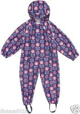 NEW JOJO MAMAN BEBE Puddlesuit Rain Splash Suit 2-3yrs Pack Away BNWT All-in-One