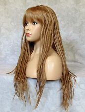 Long Light Brown Dread Locks Classic Cap Full Synthetic Wig Wigs - DH03