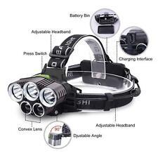8000LM 5 LED CREE XM-L T6 LED Headlamp Head Light Flashlight Recharge Torch Lamp